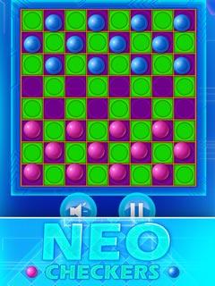 Image Neon Checkers